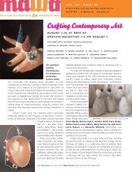MAWA Newsletter Summer 2007 - Mentoring Artists for Women's Art
