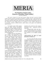 The Kingdom of Saudi Arabia: Elements of ... - GLORIA Center