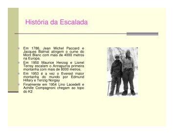 História da Escalada - Pós-Graduação em Atividades e Esportes de ...