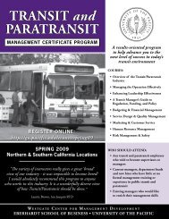 TRANSIT and PARATRANSIT - CalACT