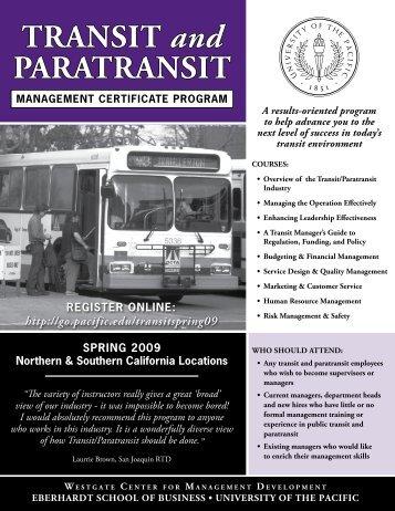 TRANSIT and PARATRANSIT - CalACT