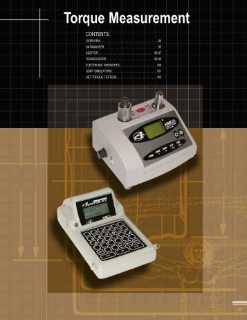 Torque Measurement - CH Reed Inc.