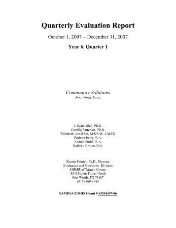 Wraparound Evaluation, October 1-December 31, 2007
