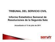 TRIBUNAL DEL SERVICIO CIVIL. Sala 2 - Servir