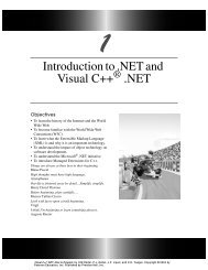 Introduction to .NET and Visual C++ .NET - Pearson Learning ...