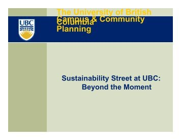 Sustainability Street at UBC - Waterbucket