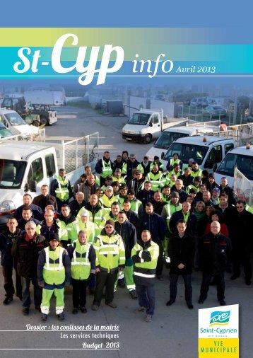 st cyp info avril 2013 - Ville de Saint Cyprien