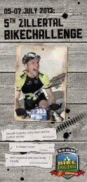 Zillertal Bike Challenge Flyer... - Zillertal Arena