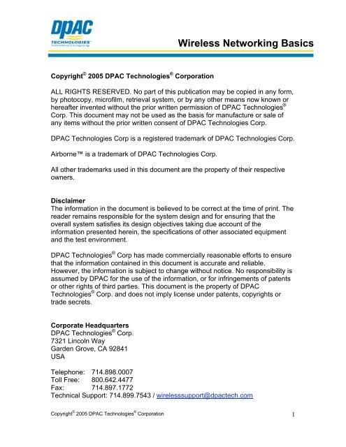 Wireless Networking Basics PDF - Quatech
