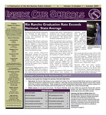 Summer 2009 - Rio Rancho Public Schools