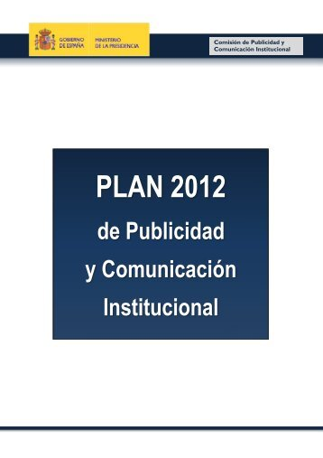 Plan de publicidad institucional 2012 - La Moncloa