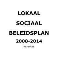 Herentals - lokaal sociaal beleidsplan 2008-2014