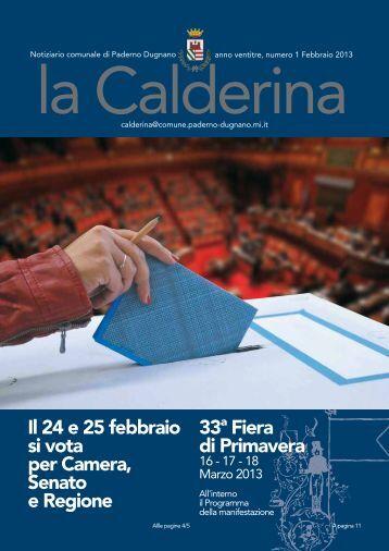 Febbraio 2013 - Sito Istituzionale del Comune di Paderno Dugnano