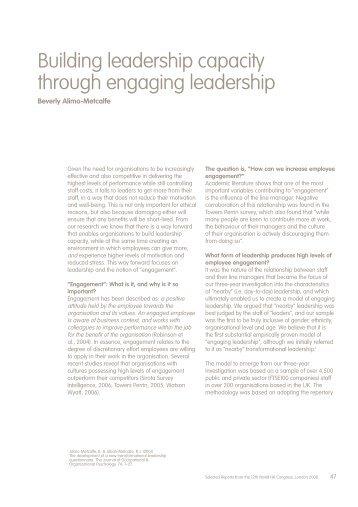 Building leadership capacity through engaging ... - ACRIP Nacional