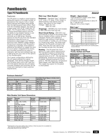Panelboards - Siemens