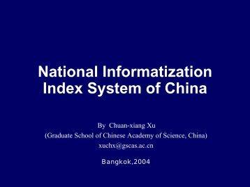 National Informatization Index System of China