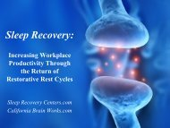 Sleep Recovery: Increasing Workplace Productivity Through the ...
