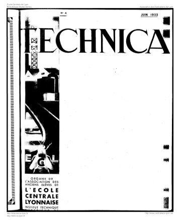 Revue Technica, année 1933, numéro 04 - Histoire de l'École ...
