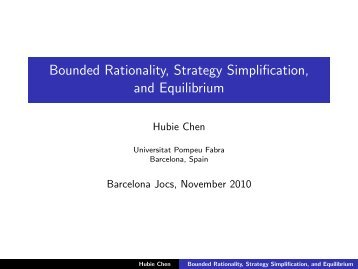 Bounded Rationality, Strategy Simplification, and Equilibrium