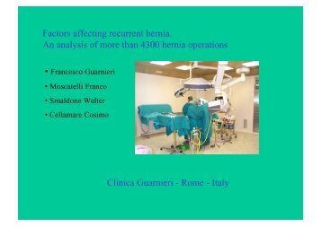 Factors affecting recurrent hernia. An analysis of more than 4300 ...
