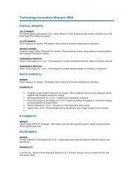 The complete list of winners - Nutech O3, Inc.