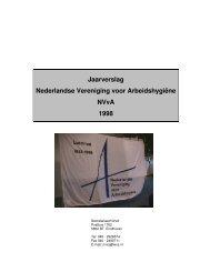Jaarverslag Nederlandse Vereniging voor Arbeidshygiëne NVvA 1998