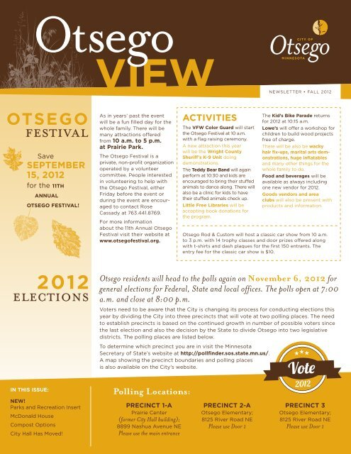 Fall 2012 - City of Otsego, Minnesota