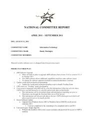 NATIONAL COMMITTEE REPORT