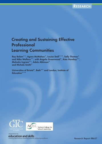Creating and Sustaining PLCs_tcm4-631034