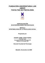 fundación universitaria luis amigó facultad de psicología