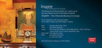 Inspire – The Influential Business Exchange - Harvey Nash