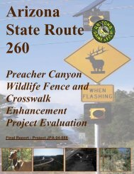 Preacher Canyon Wildlife Fence and Crosswalk Enhancement ...