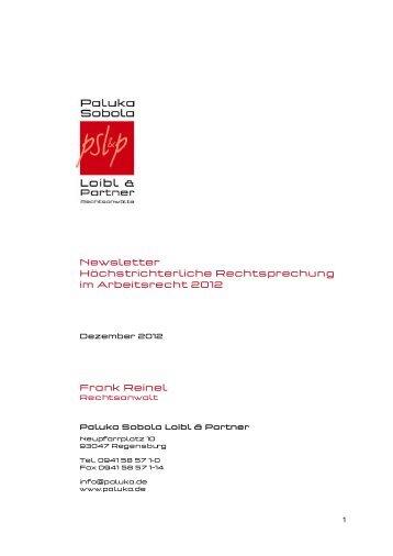 Newsletter - Paluka Sobola Loibl & Partner
