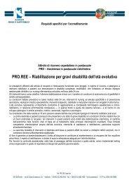 Riabilitazione per gravi disabilità dell'età evolutiva - Agenzia di ...