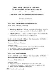 Program Konferencji - Collegium Civitas