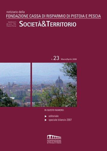 n.23 - Marzo/Aprile 2008 - Fondazione Cassa di Risparmio di ...