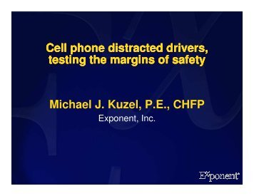 Cell phone distracted drivers, testing the margins of safety ... - azite