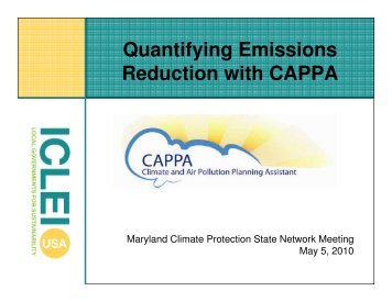 Quantifying Emissions Reduction with CAPPA - ICLEI Local ...