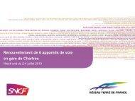 Renouvellement de 6 appareils de voie en gare de Chartres - RFF