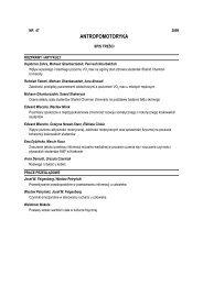 Antropomotoryka 47-2009 - Akademia Wychowania Fizycznego w ...