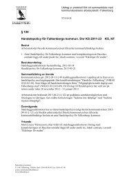 § 194 Handelspolicy för Falkenbergs kommun. Dnr KS ... - Intranet