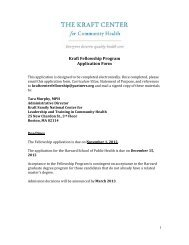 Kraft Fellowship Program Application Form - The Kraft Center for ...