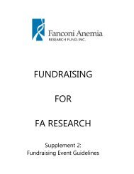 fundraising for fa research - Fanconi Anemia Research Fund