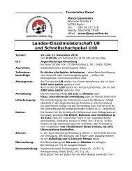 Ausschreibung - Niedersächsische Schachjugend