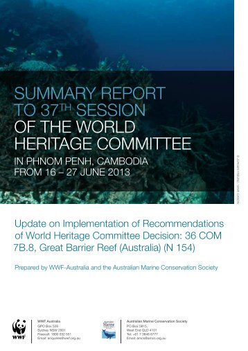 summary report to 37th session of the world ... - wwf - Australia