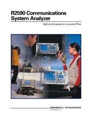 R2590 Communications System Analyzer - General Dynamics ...