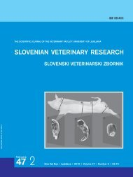 View - Slovenian veterinary research