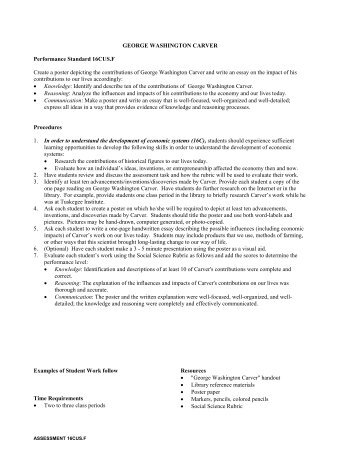 2 page essay on george washington carver
