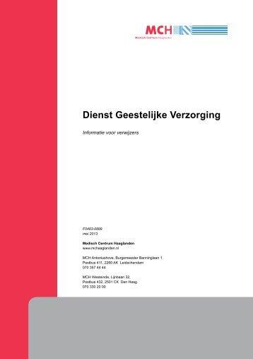 Dienst Geestelijke Verzorging - Medisch Centrum Haaglanden