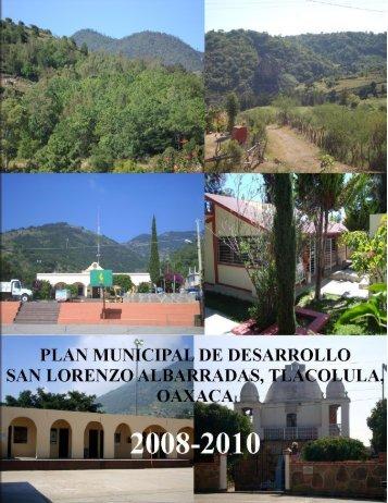 PLAN MUNICIPAL DE SAN LORENZO ALBARRADAS ...